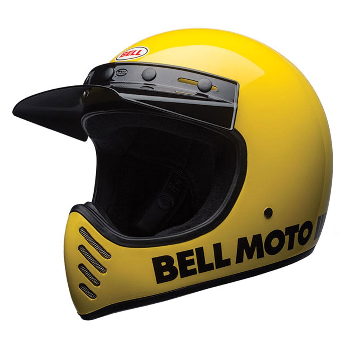 Bell Moto 3 >> Bell Moto 3 Classic Yellow Full Face Helmet 7080637