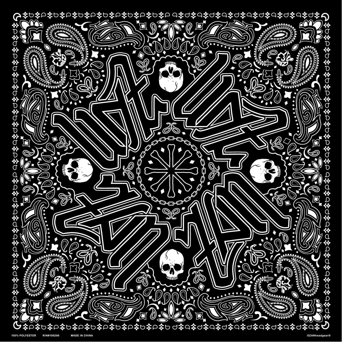 ZAN headgear Black Paisley Deluxe Bandana - BD101 ...