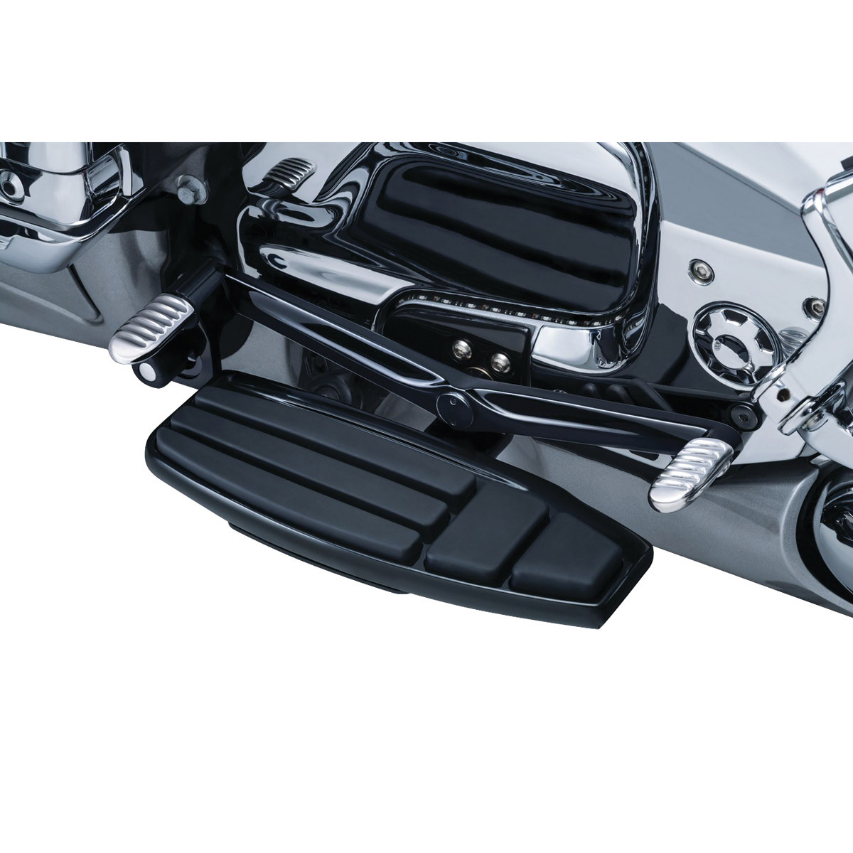 Kuryakyn Gloss Black Driver Floorboard Kit