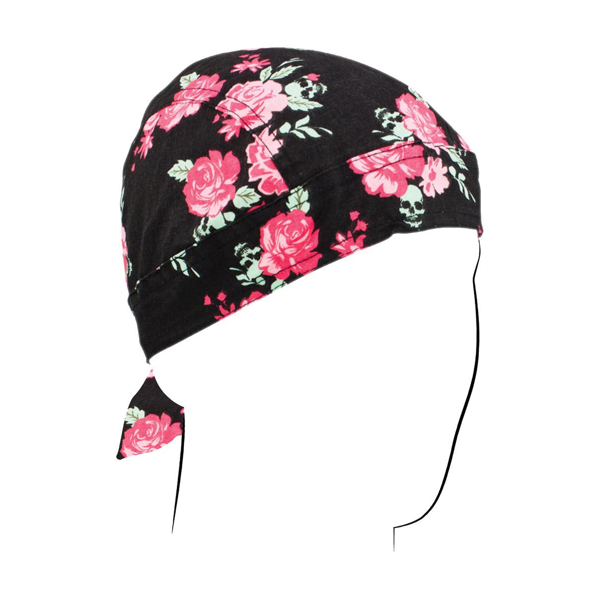 ZAN headgear Floral Skull Flydanna