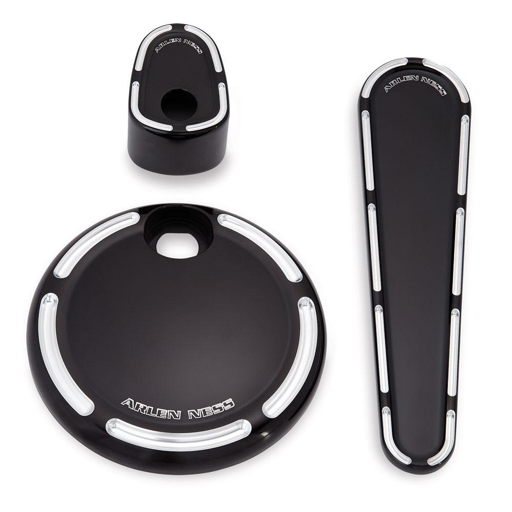 Arlen Ness Black Slot Track Dash Accessory Pack