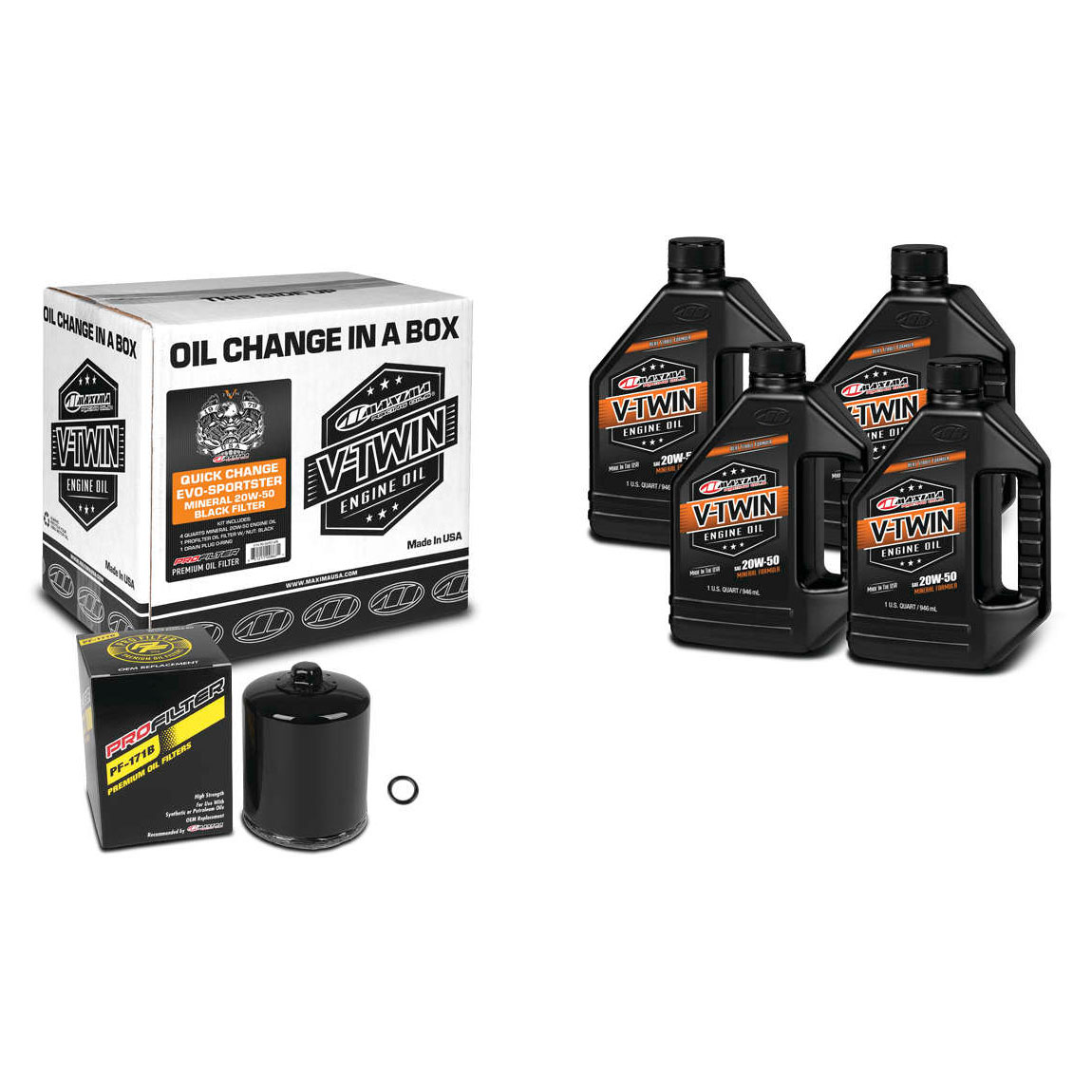 Maxima 20W-50 Quick Oil Change Kit