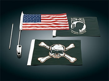 Kuryakyn Side Mount Flag Kit for FLHTC/U