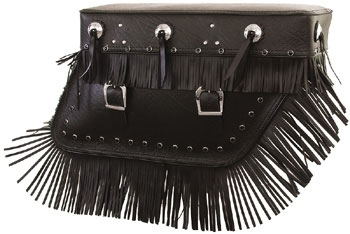 Pac-Kit 'The Bertha' Black Studded Saddlebags