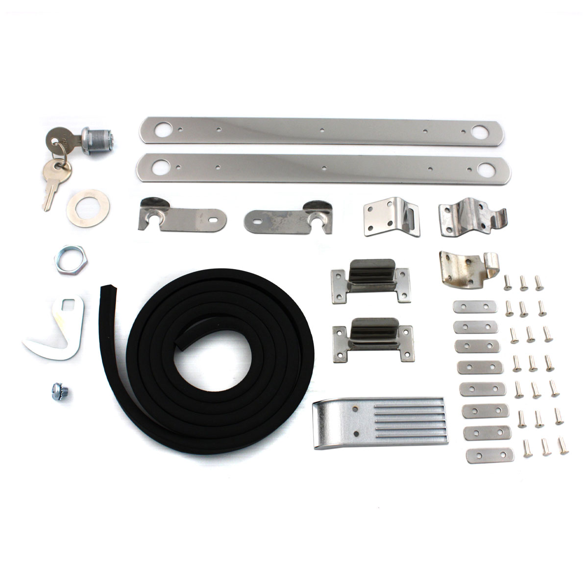 V-Twin Manufacturing Hardware Kit for Fiberglass Saddlebag