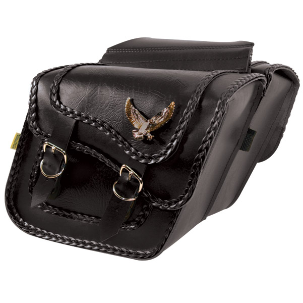 Willie & Max Gold & Silver Eagle Black Magic Collection Saddlebags