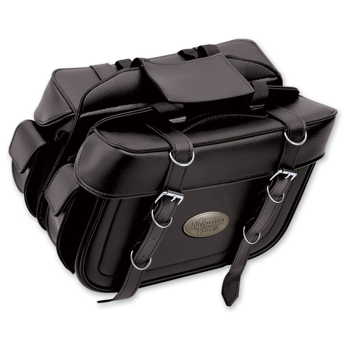 All American Rider Extra-Large Box-Style Detachable Slant Saddlebags