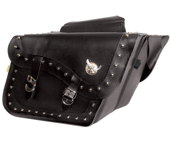 Willie & Max Silver Eagle Studded Collection Fleetside Slant Saddlebags