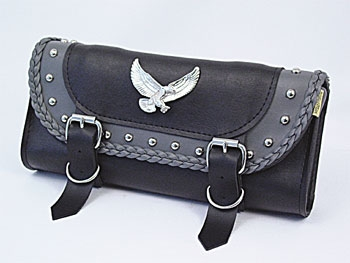 Willie & Max Eagle Gray Thunder Studded Tool Bag