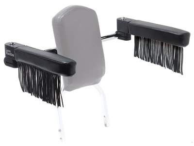 Love Handles Fringed Standard Passenger Arm Rest for Harley-Davidson 1/2″ Square Tube Non-Medallion (Open) Sissy Bars