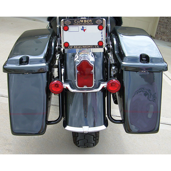 Sumax Hard Saddlebags for Softail without Light Holes