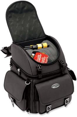 Saddlemen BR3400EX Plain Backrest, Seat and Sissybar Bag