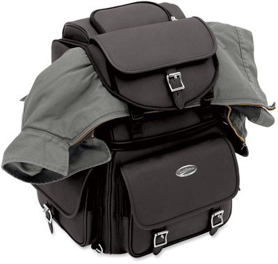 Saddlemen BR3400EX Plain Backrest, Seat and Sissybar Bag
