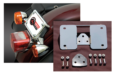 Easy Brackets Laid Down License Plate / Turnsignal Relocation Kit