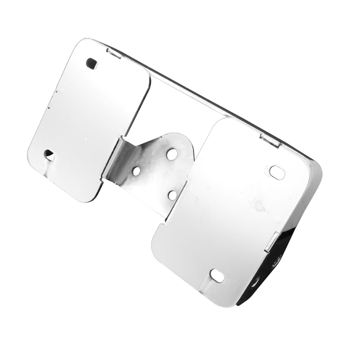 Easy Brackets Chrome Laid Down License Plate Turnsignal