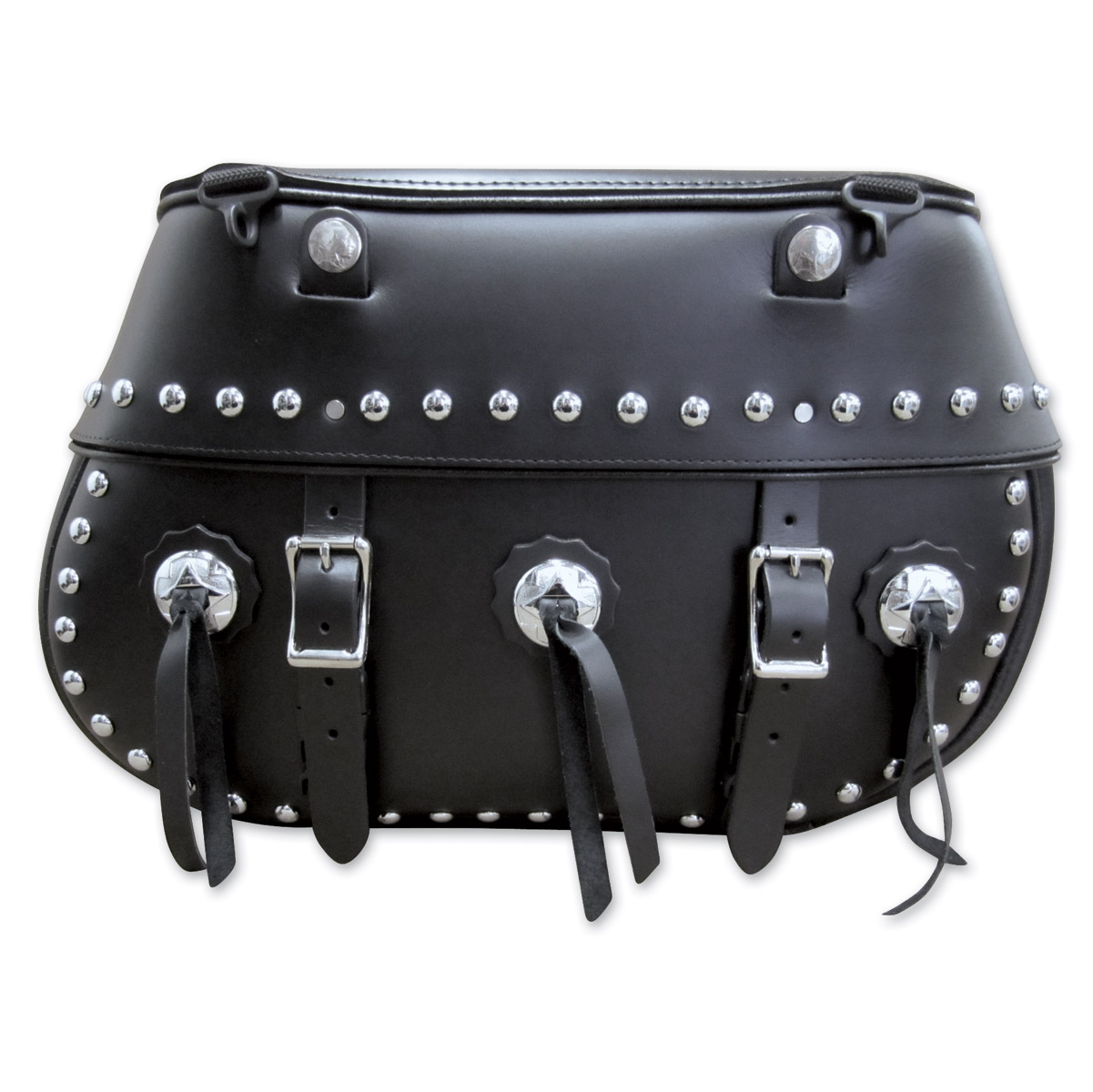 Leatherworks, Inc. Classic Studded Saddlebags