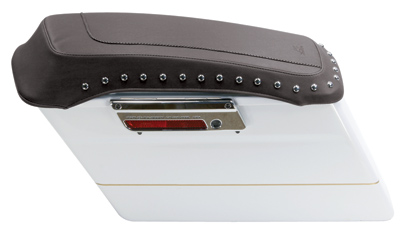 Mustang Chrome Studded Saddlebag Lid Cover