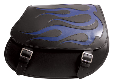 U.S. Saddlebag Co. Quick Release Kit-Large Blue Flames