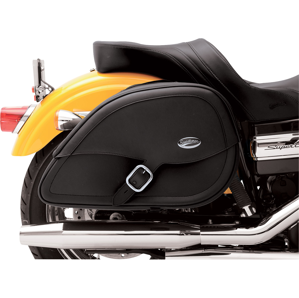 Saddlemen Drifter Rigid-Mount Teardrop Saddlebags for H-D Motorcycles