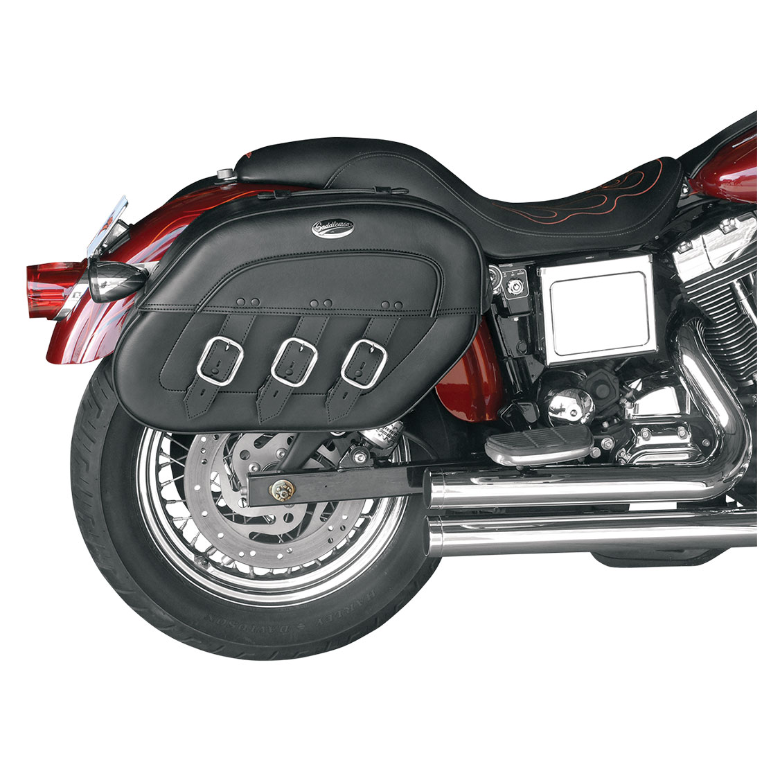 Saddlemen Drifter S4 Rigid-Mount Quick-Detach Slant Saddlebags for H-D  Motorcycles - 35010232