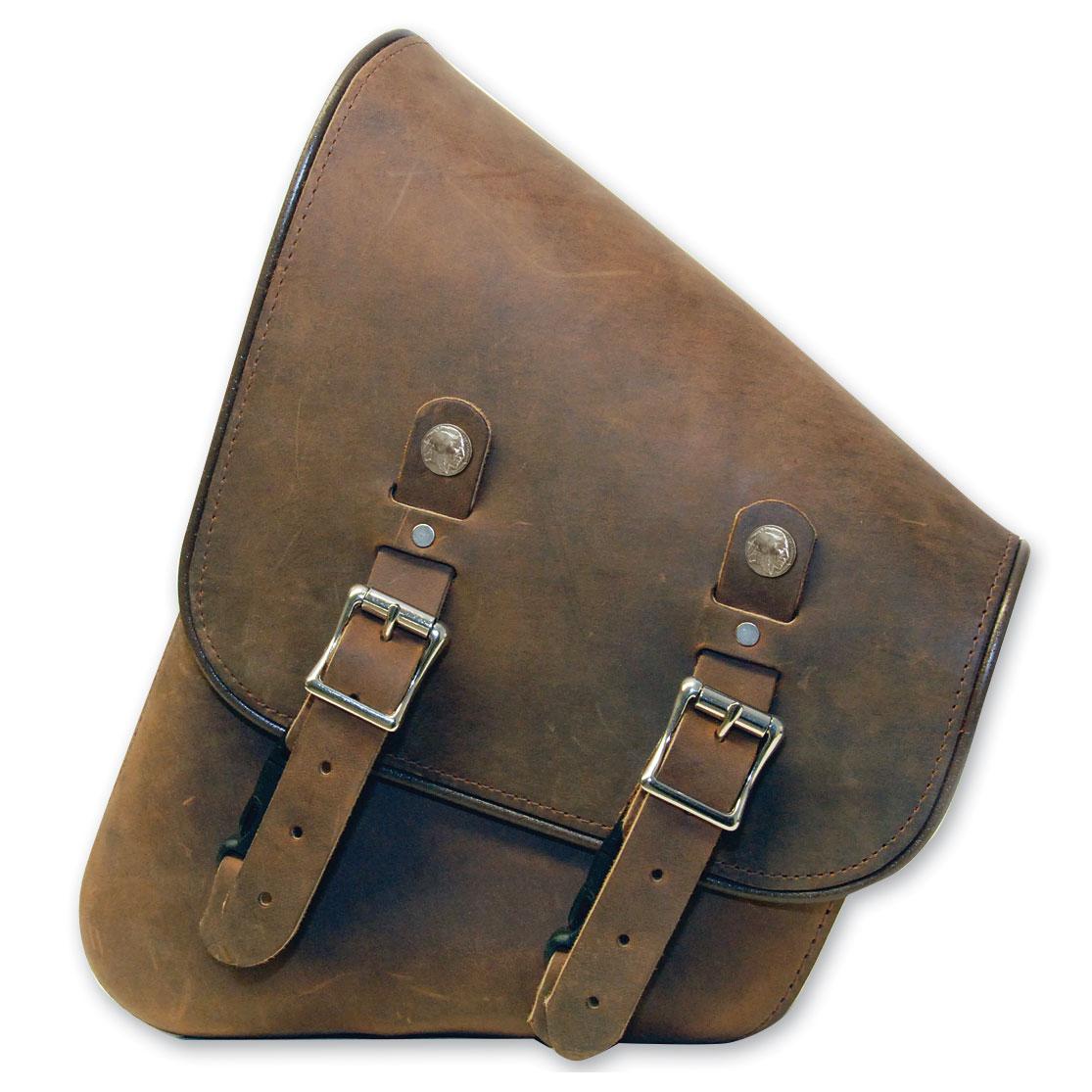 d090a1df1 Leatherworks, Inc. Distressed Brown Leather Swingarm Bag - 312LDB ...