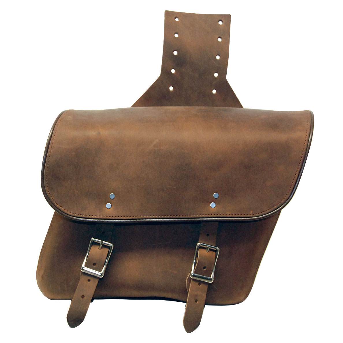 Leatherworks, Inc. Distressed Brown Throwover Saddlebags