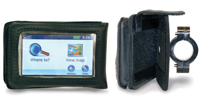 Leatherworks, Inc. GPS Detachable Case for 1-1/4″ Handlebars
