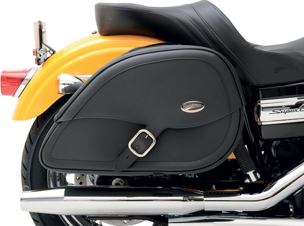 Saddlemen Drifter Teardrop Saddlebag with Shock Cutaway