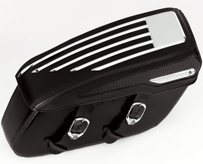 Chrome Concepts Jet Stream Saddlebag Trim for Road King Classic