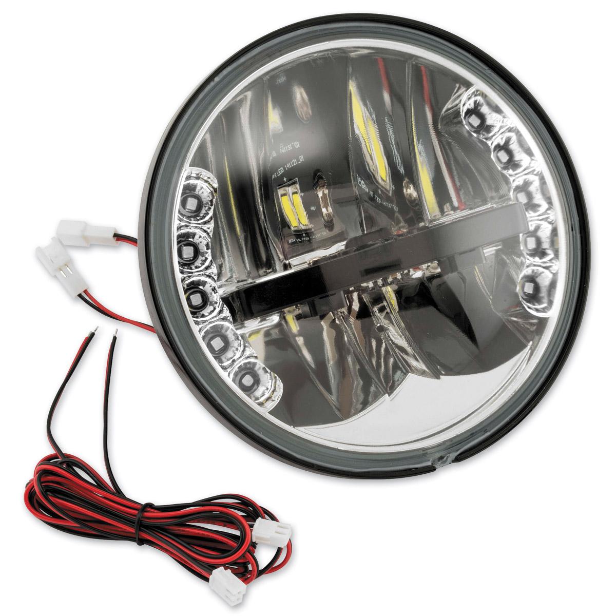 BikeMaster 5-3/4″ LED Headlight with Amber Turn Signals