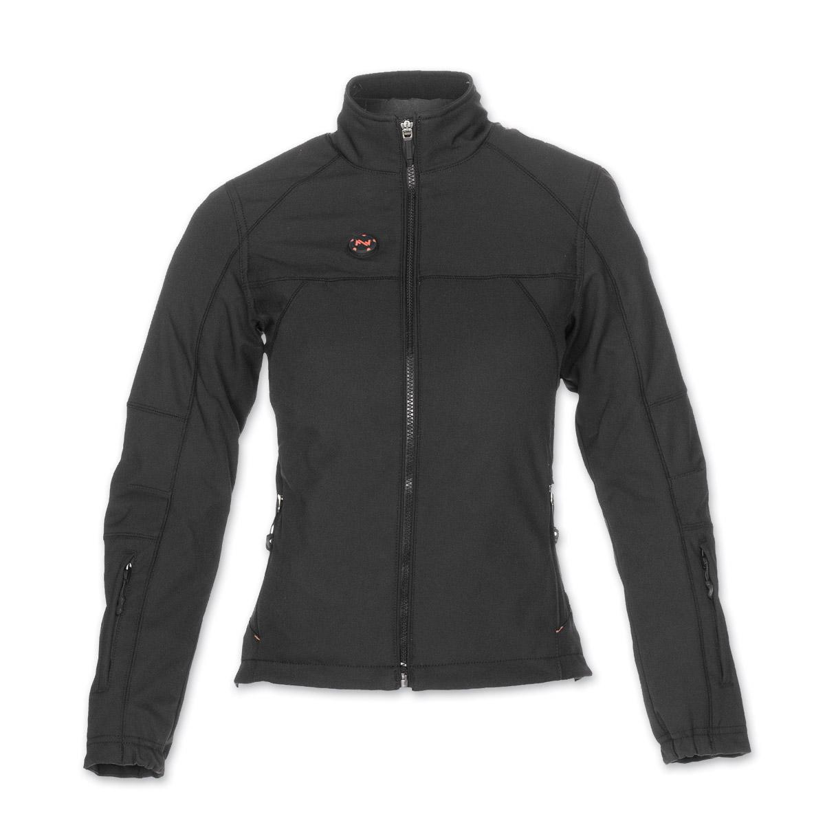 Mobile Warming Women's Dual Power Heated Black 12v Jacket