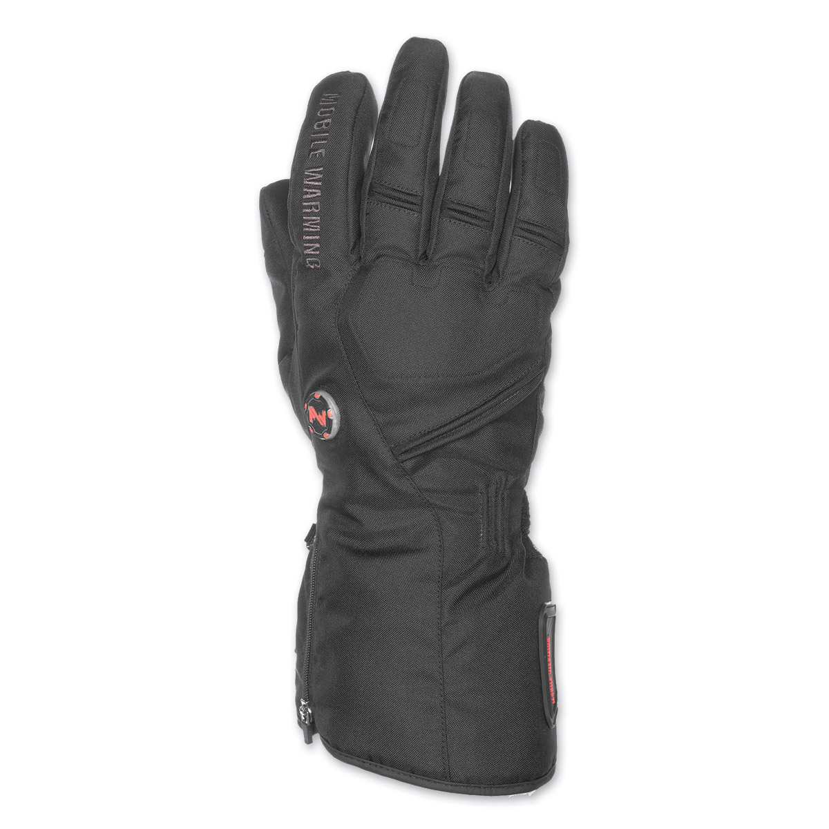 Mobile Warming Men's Geneva Textile 7.4V Heated Black Gloves
