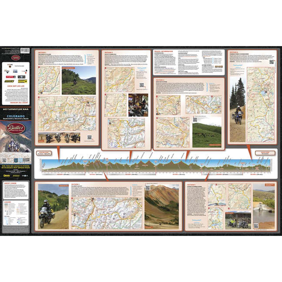 Butler Maps Colorado Backcountry Discovery Routes Map