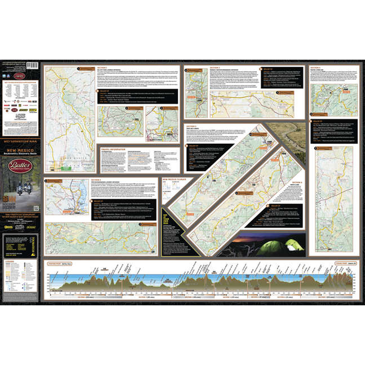 Butler Maps New Mexico Backcountry Discovery Routes Map