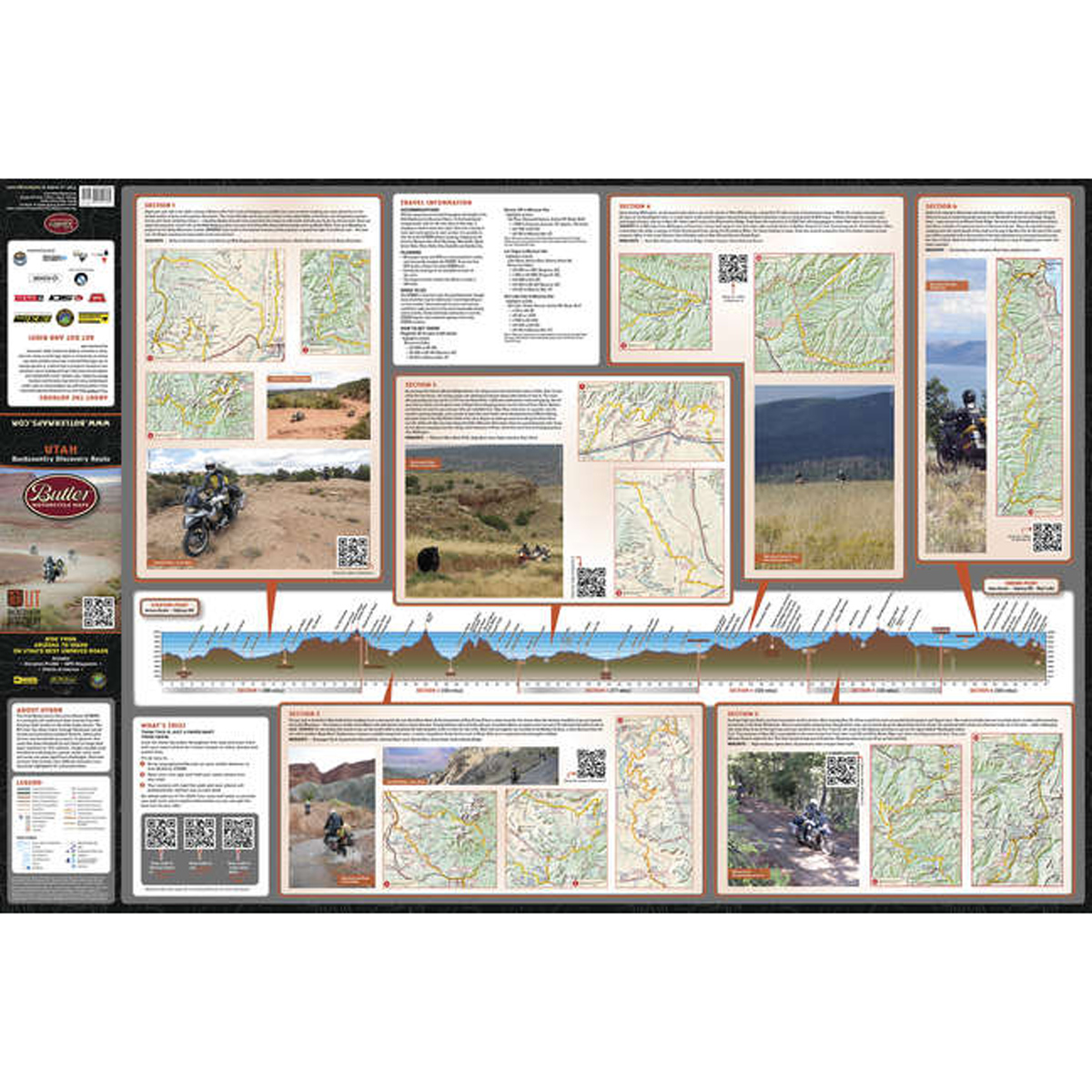 Butler Maps Utah Backcountry Discovery Routes Map