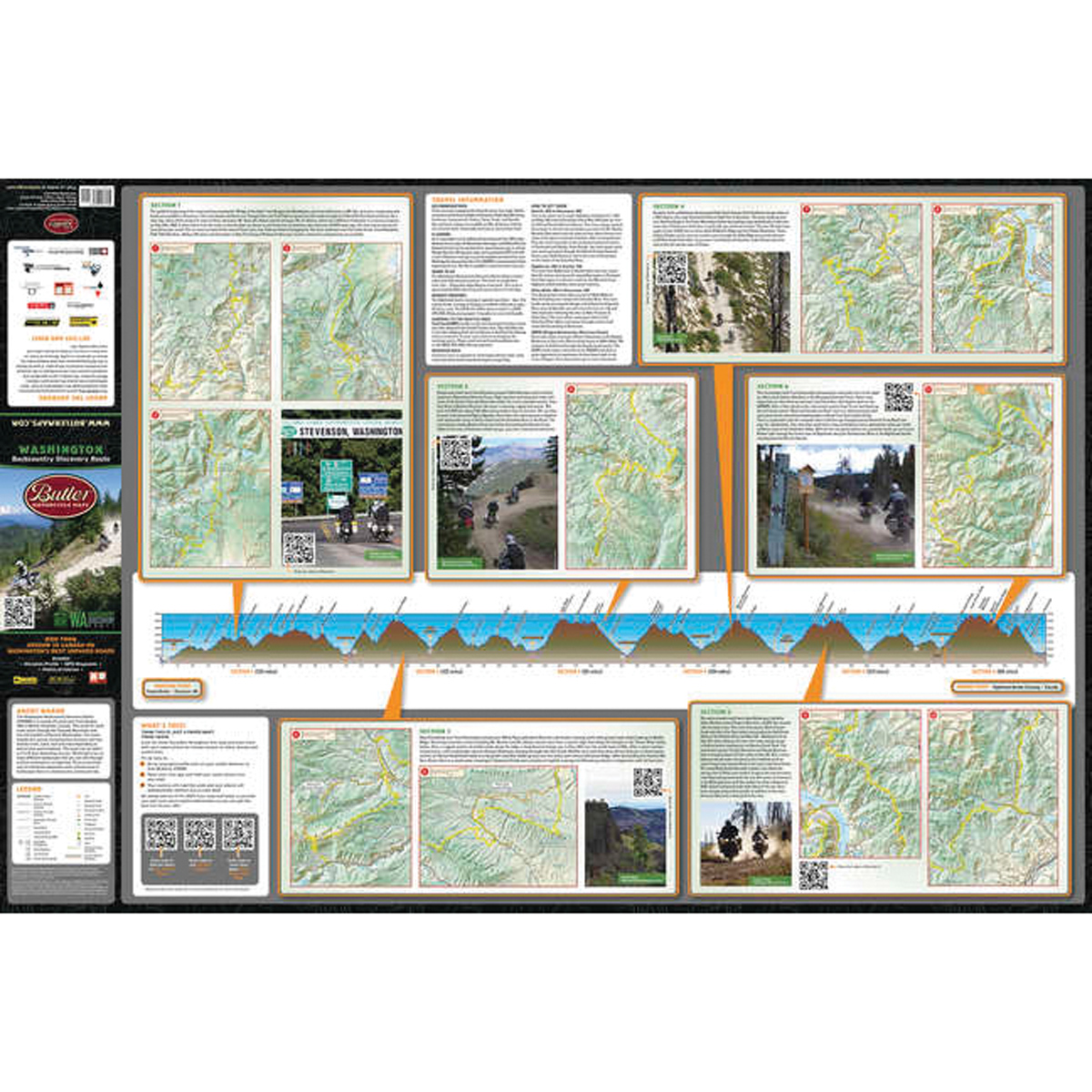 Butler Maps Washington State Backcountry Discovery Routes Map