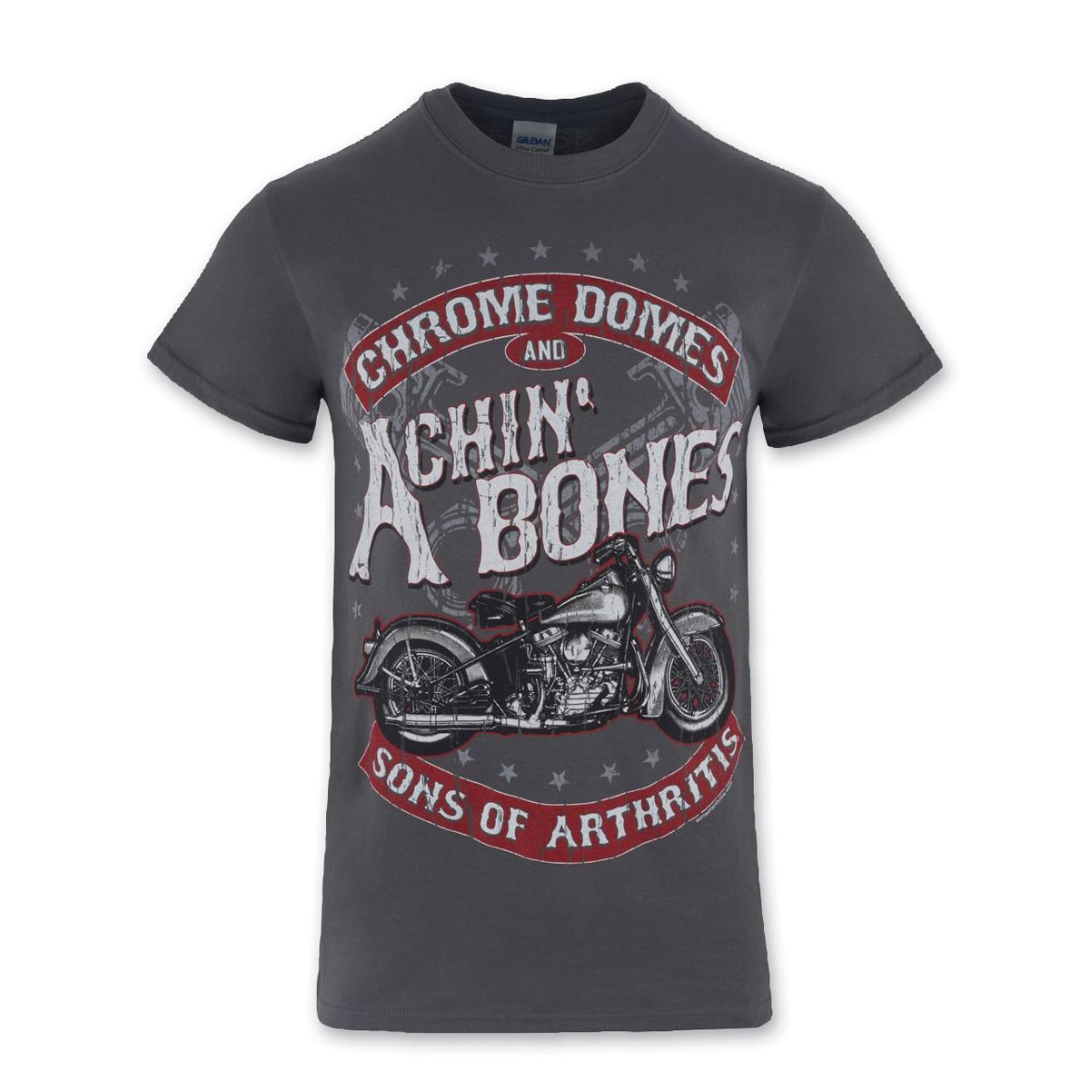 Sons of Arthritis Men's Achin' Bones Charcoal T-Shirt