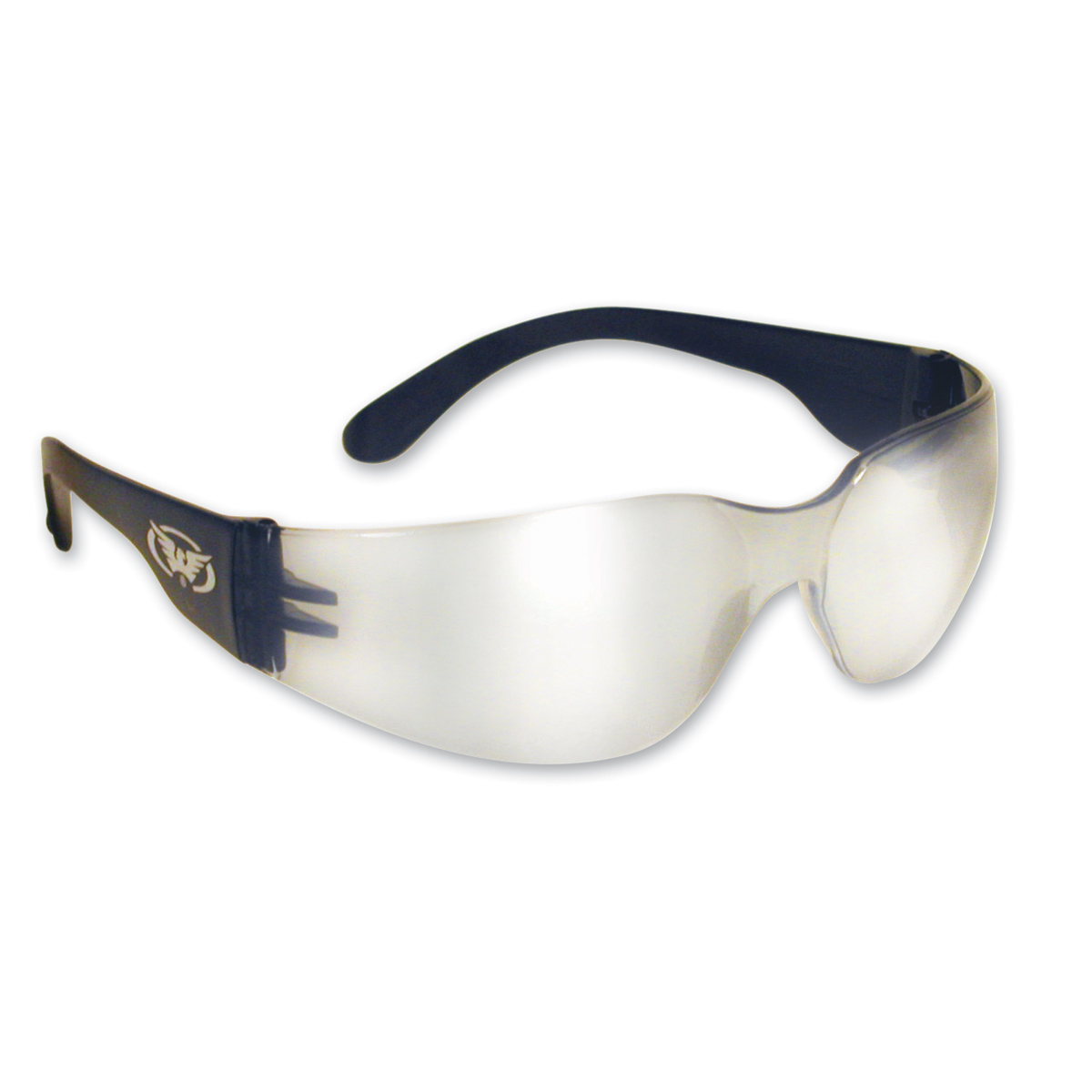 Global Vision Eyewear Rider Sunglasses with Clear Mirror Lens