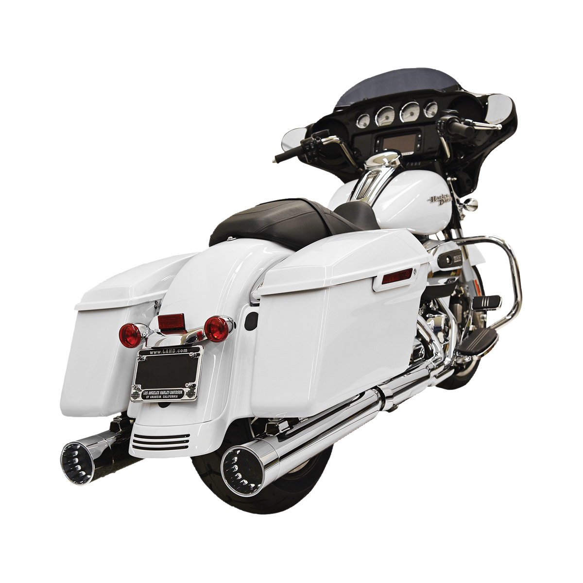 Bassani 4″ Straight Can DNT Slip On Mufflers Chrome with Chrome End Cap
