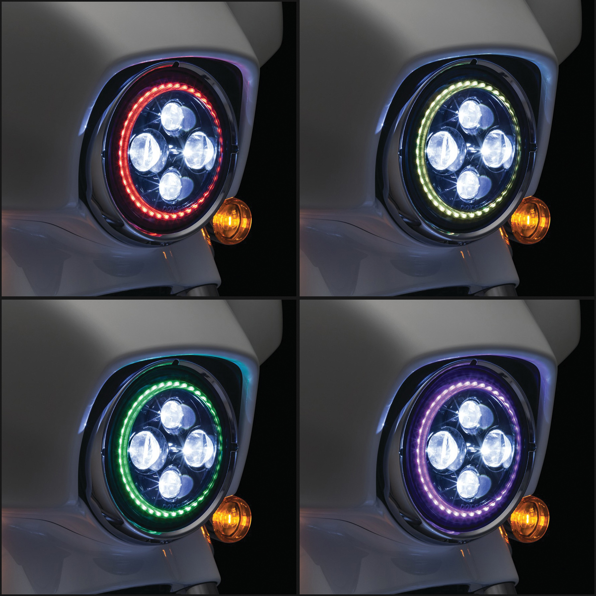 Kuryakyn 7 Led Orbit Prism Headlight 2461 Wiring Instructions