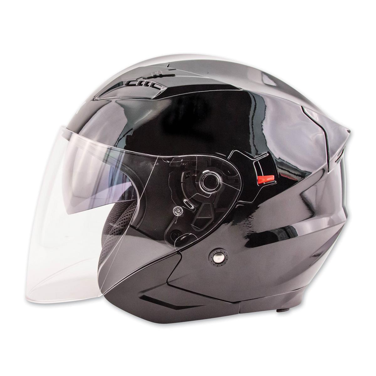 Zox Journey Gloss Black Open Face Helmet