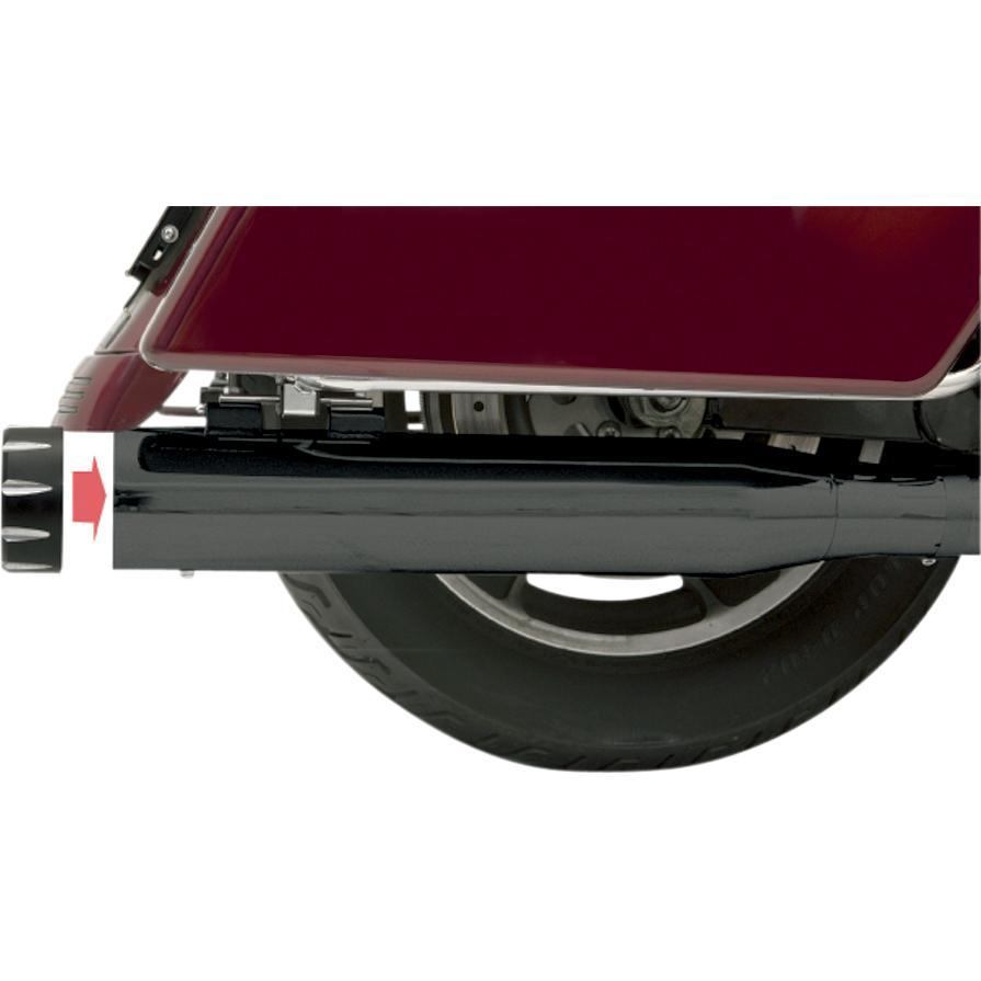 Bassani 4″ Slip-On Quick Change Series Mufflers, Black