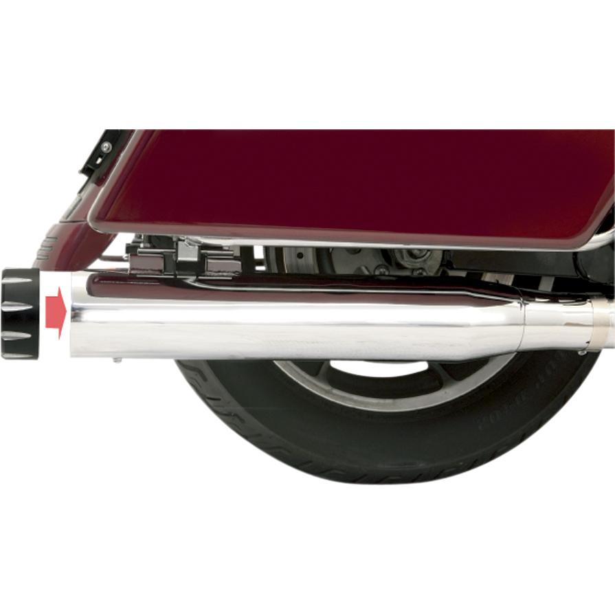 Bassani 4″ Slip-On Quick Change Series Mufflers, Chrome