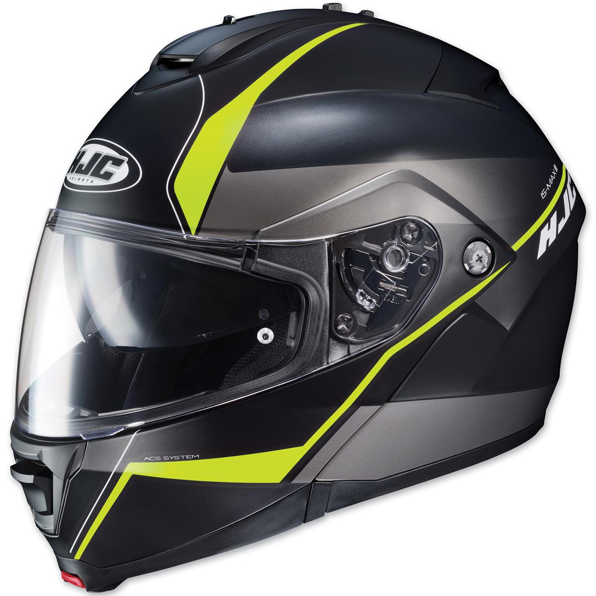 HJC IS-MAX II Mine Black/Hi-Viz Green Modular Helmet