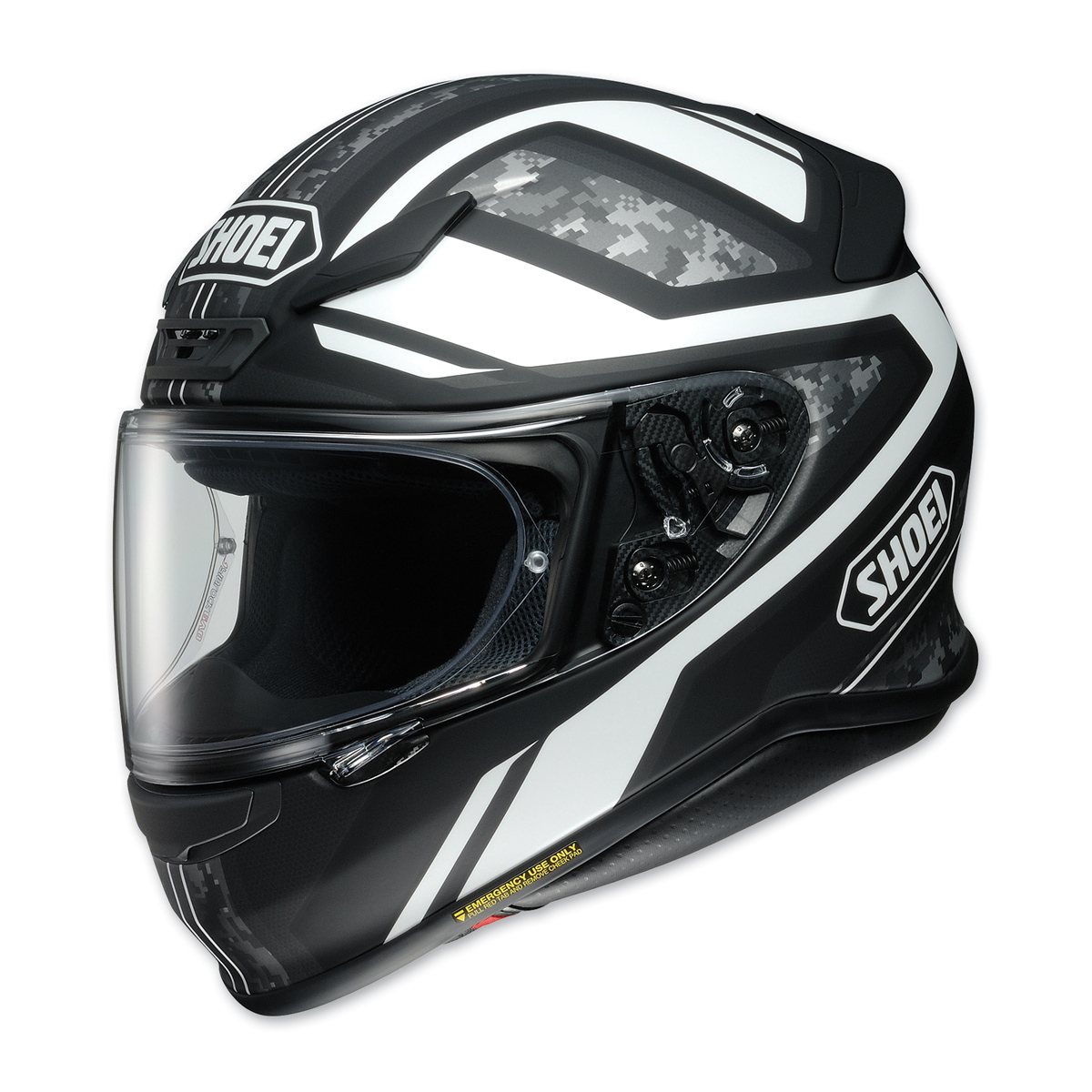 Shoei RF-1200 Parameter Black/White Full Face Helmet