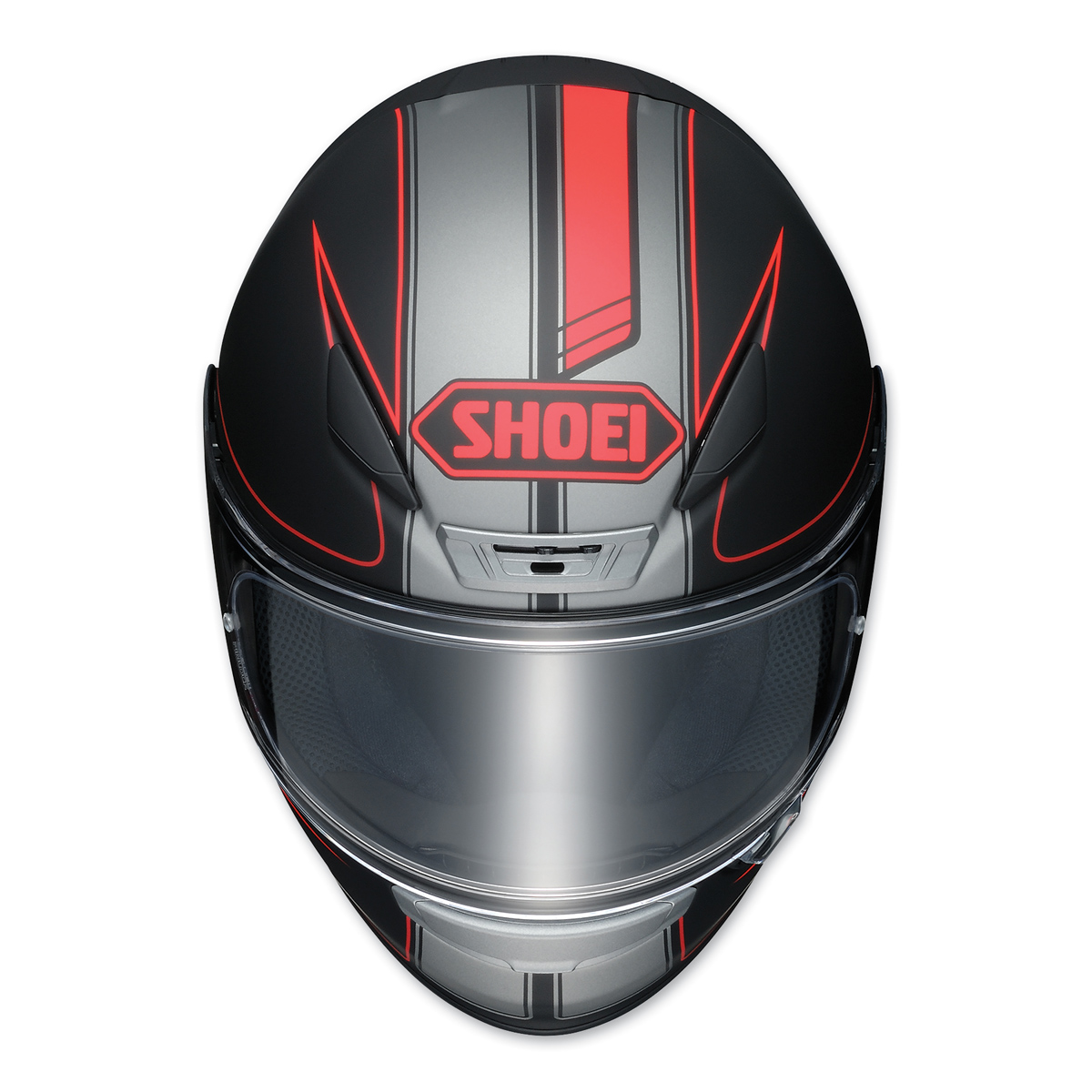 shoei rf 1200 flagger black red full face helmet 834 714. Black Bedroom Furniture Sets. Home Design Ideas