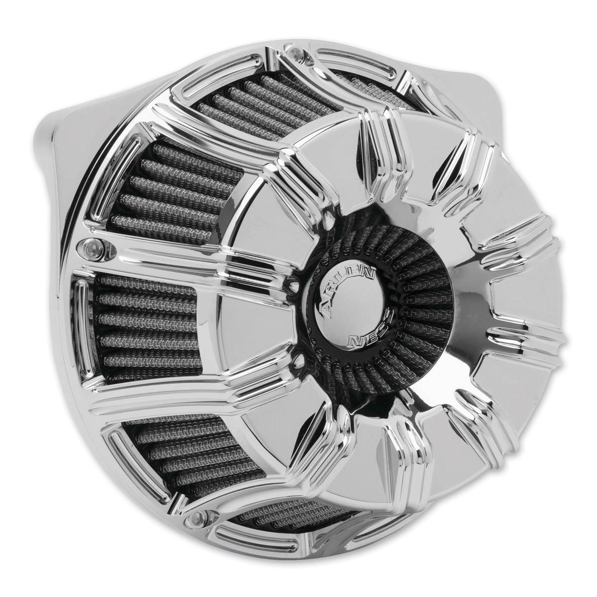 Arlen Ness Inverted Sucker 10-Gauge Chrome Air Cleaner Kit