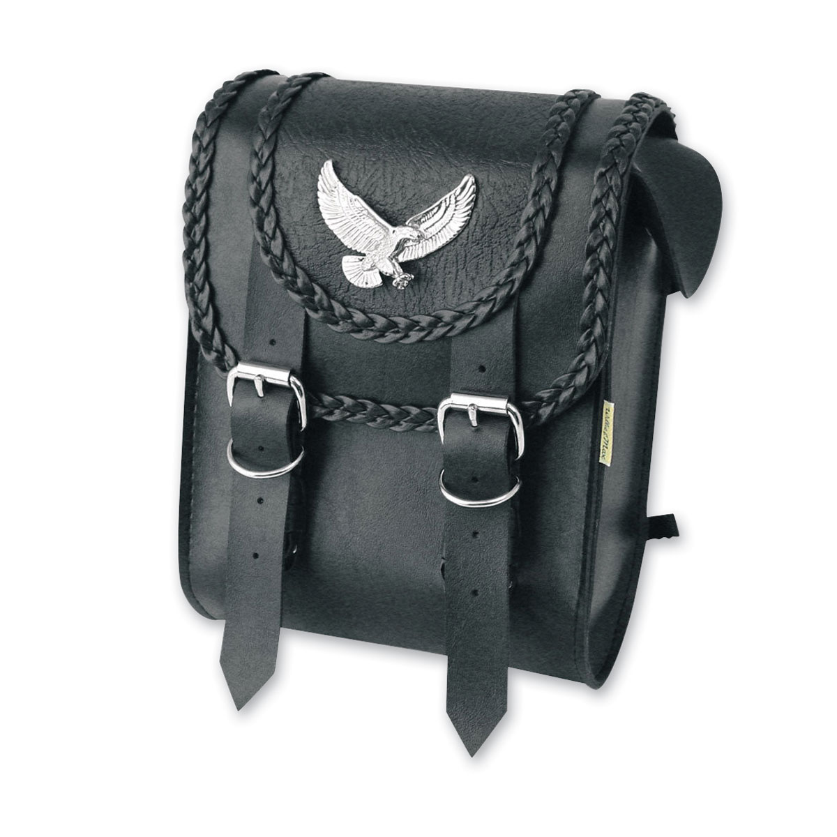 Willie & Max Gold & Silver Eagle Black Magic Collection Sissy Bar Bag
