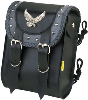 Willie & Max Eagle Gray Thunder Studded Sissy Bar Bag