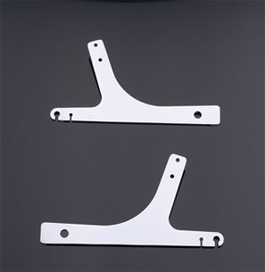 Milwaukee Twins Chrome Sissy Bar Side Plates